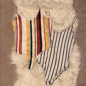 Striped body suits